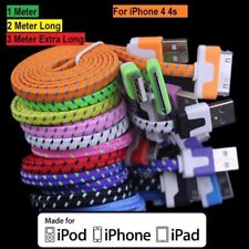 Braided Charging Lead USB Data & Sync Charger Cable for iPhone 4 4S 3GS iPad UK