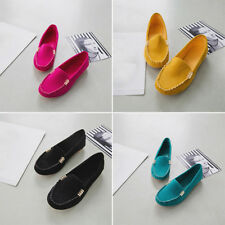 New Women Casual Soft Ballerina Moccasin Suede Slip On Flat Loafers Ladies Shoes