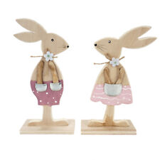 Easter Rabbit Wood Easter Decoration Bunny Easter Egg Bunny Figurine Home Decor