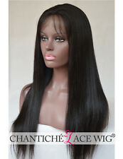 Women's Yaki Straight Lace Front Human Hair Wigs Indian Remy Hair Full Lace Wigs