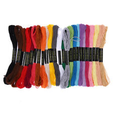 24 Colors Embroidery Thread Polyester Hand Cross Stitch Floss Sewing Skeins