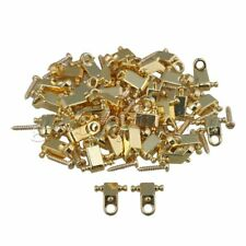 200 x Electric Guitar Copper Roller String Trees String Retainers Golden