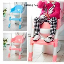 Baby Kids Toddler Potty Training Toilet Trainer Safety Seat Chair Step Ladder OO