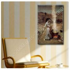 READY TO HANG CANVAS The Magic Circle Waterhouse Frame Framed Art Giclee