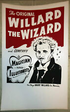 Original Willard The Wizard Poster/Window Card