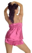 Satin Camisole & Boxer Set -  Available in 4 Colours & Sizes 8 - 14