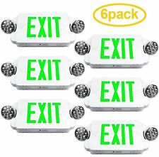 6 Pack UL LED EXIT SIGN Emergency Light Battery Backup Building Facility EXIT