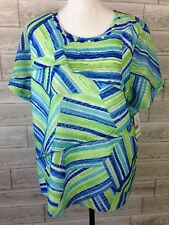 NEW ALFRED DUNNER Blouse Womens Plus 1X 2X 3X Short Sleeve Top Shirt NWT N2-XX