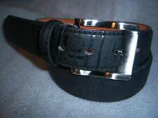 Italy Style Brand Men's Genuine Leather Black Belt Size S / M / L / XL NEW