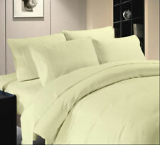 Bedding Item-Sheet set/Fitted/Duvet/Flat 1000 TC Egyptian Cotton Ivory Solid