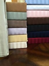 US Fitted Sheet 100% Egyptian Cotton RV Bunk And Tailor Sizes All Striped Colors