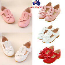 Toddler Kids Girls Leather Strap Sandals Flat Princess Formal Party Dress Shoes
