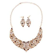 Lady Fashion Jewelry Set Crystal Necklace & Earrings Set for Wedding Prom