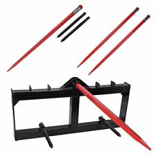 """49"""" Hay Bale Spear Attachment Front Loader Tractor Skid steer Deere"""