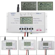 Solar Panel Regulator LCD 10/20/30/40A 12V/24V MPPT Charge Controller 3 Timer 0 ̄