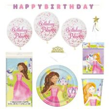 Princess tablecover plates napkins balloons party bags crowns *FREE wand