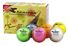 Mother's Day Chromax Coloured Golf Balls 6 Ball Pack - Can be Personalised