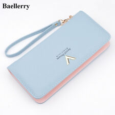 Brand Designer Leather Wallets Women Purses Zipper Long Coin Purses Money Bags