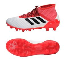 Adidas Men Predator 18.2 HG Cleats Soccer White Red Football Shoes Spike CQ1951