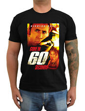 GONE IN SIXTY SECONDS 60 Movie poster ver. 1 Nicolas Cage T-Shirt (Black) S-5XL
