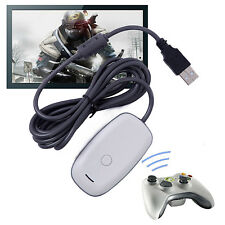 OFFICIAL MICROSOFT XBOX 360 WIRELESS CONTROLLER RECEIVER FOR WINDOWS PC GAMING F