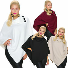 Ladies Poncho Cape Jacket Buttons One Size Fits All 36 Pullover Elegant Warm