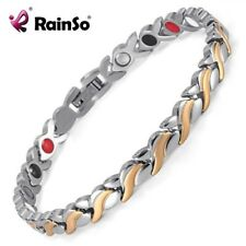 Fashion Magnet Link Chain Bracelet Germanium Stainless Steel Health Care Bangle