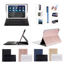 For Apple iPad Smart Wireless ABS Bluetooth Keyboard With PU Leather Case Cover