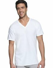 10-pack Hanes Classic Big Mens V-Neck T-Shirt White size 2XL #7880W5