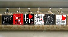 LOVE Sweetheart xO Personalized Scrabble Tile Pendant Necklace Charm OR Keychain