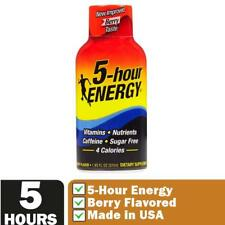 5-Hour Energy Shots, Berry Flavor, Vitamins Caffeine Sugar-Free 3, 6 or 12 Pack