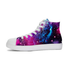 Fashion Galaxy Canvas High Top Shoes Ladies Mens Lace-up Shoes Couple Sneakers