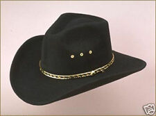New  Western Faux Felt Cowboy Hat - Pinch Front - Sized - Black or Brown - Adult
