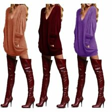 Autumn Winter Womans Fashion Fit Long Shirt Pocket Long Sleeve Casual V-neck T-s