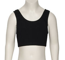Girls Childs Black Cotton Dance Gym Fitness Sports Tank Crop Top KCTC-6 By Katz