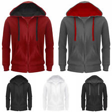 Mens Hoodie American Fleece Zip Up Jacket Sweatshirt Hooded Top Casual Sweater