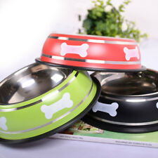 Stainless Steel Puppy Dog Feeder Feeding Food Water Dish Bowl For Pet Dogs Cat.d