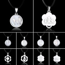 Fashion Stainless Steel Boy Girl Angel Shell Pendant Necklace Family Jewellery