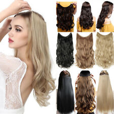 US Hidden Invisible Wire Hairpiece Secret Miracle Straight Curly Hair Extensions