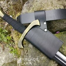 Leather Basic Sword Holder Frog Part Scabbard Weapon Loop Larp Cosplay