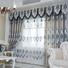 European luxury bedroom noble embroidery blackout curtain tulle valance N166