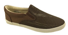 MENS SLIP ON CASUAL LIGHTWEIGHT MESH BOAT DECK SHOES BROWN SIZE UK 7-11