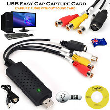 USB 2.0 TV Video Audio VHS to DVD HDD Converter Capture Card Adapter Easycap