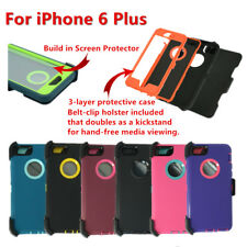 Defender Case Cover w/Screen,Holster Belt Clip fit Otterbox For iPhone 6s Plus