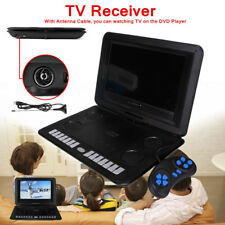 Portable 13.8'' DVD Player EVD TV Game Swivel Screen USB SD Card Remote Control