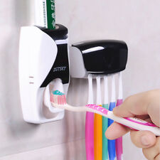 Toothpaste Dispenser Automatic Toothbrush Holder Squeezer Hands Free As Seen TV