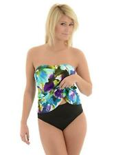 NEW Miraclesuit Size 12 or 14 Summerbloom Bandeau 2-PC Tankini Swimsuit $150 NWT