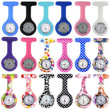 Silicone Beauty Nurse Fob Watch Brooch Tunic Medical Doctor Watches Free Battery