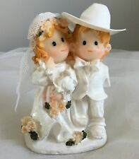 Cowboy Wedding Cake Topper - Rustic - Western - Bride and Groom Figurines