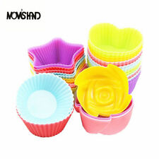 12Pcs/lot Silicone Cupcake Muffin Cup Bakeware Mold Cake Decorating Baking